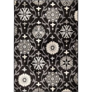 "94""x 130""x 0.55"" Floral/Botanical Seal Area Rug"