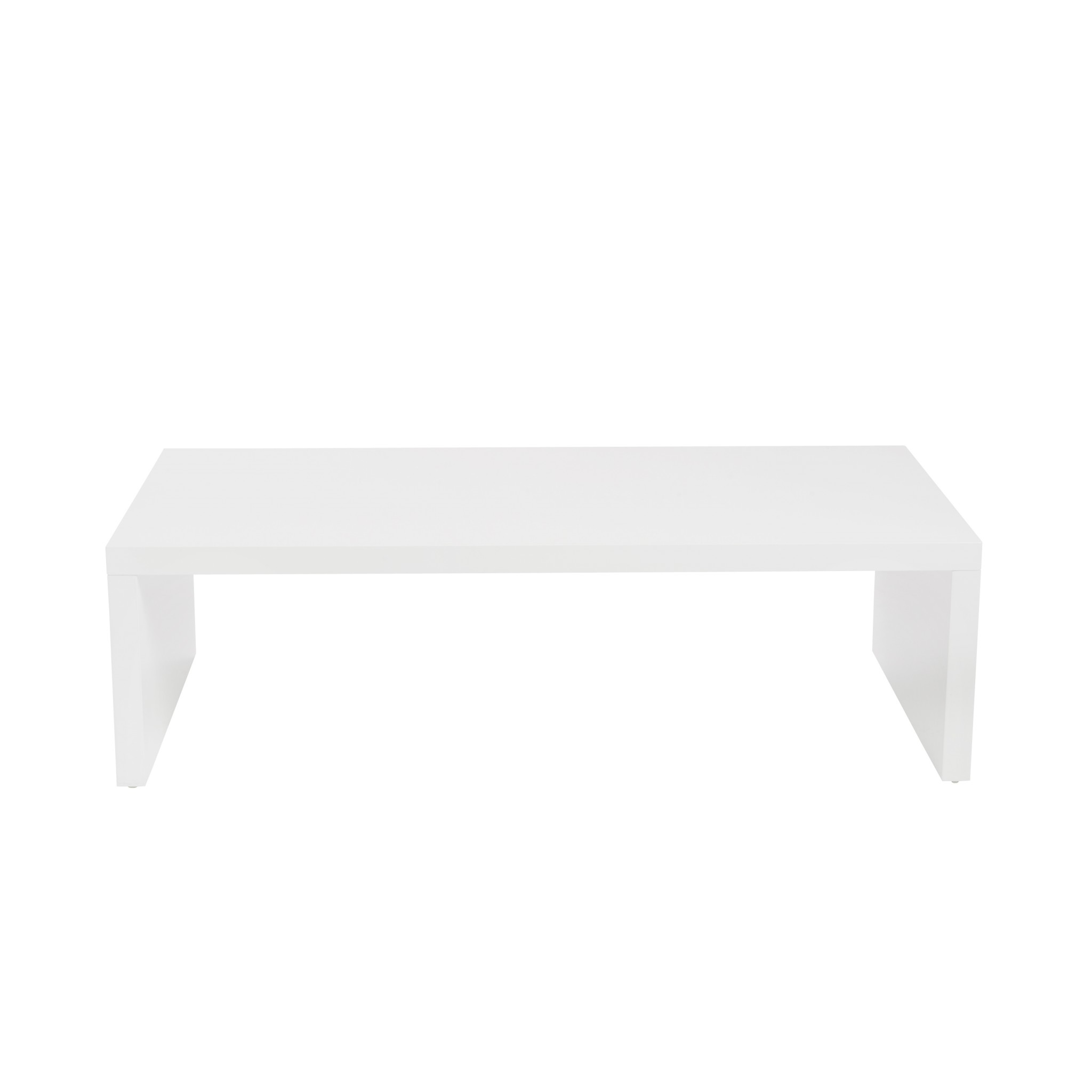 "47.25"" X 23.63"" X 13.98"" High Gloss White Lacquered MDF Rectangle Coffee Table"