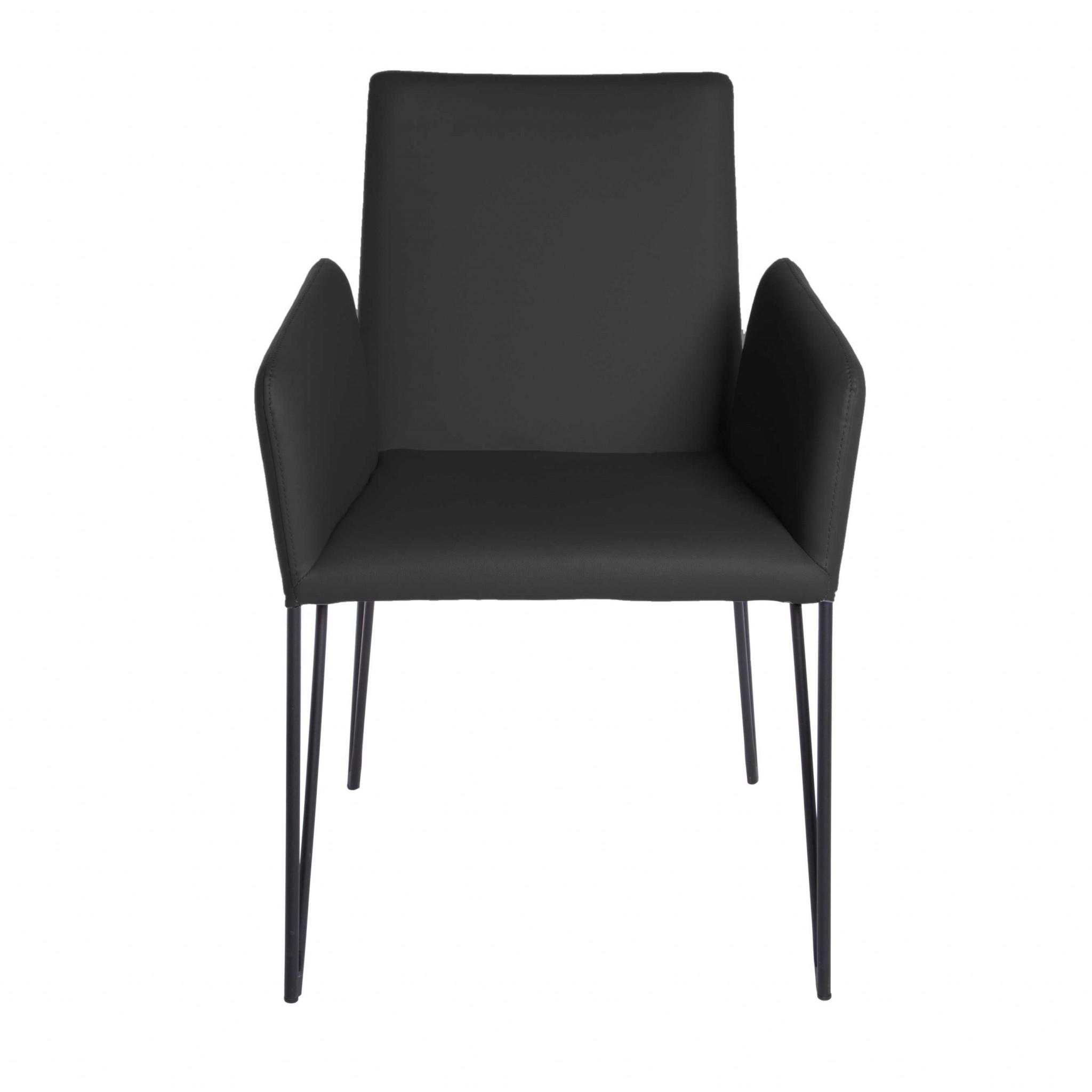 "22.45"" X 23.04"" X 35.63"" Black Leatherette over Foam Arm Chair"