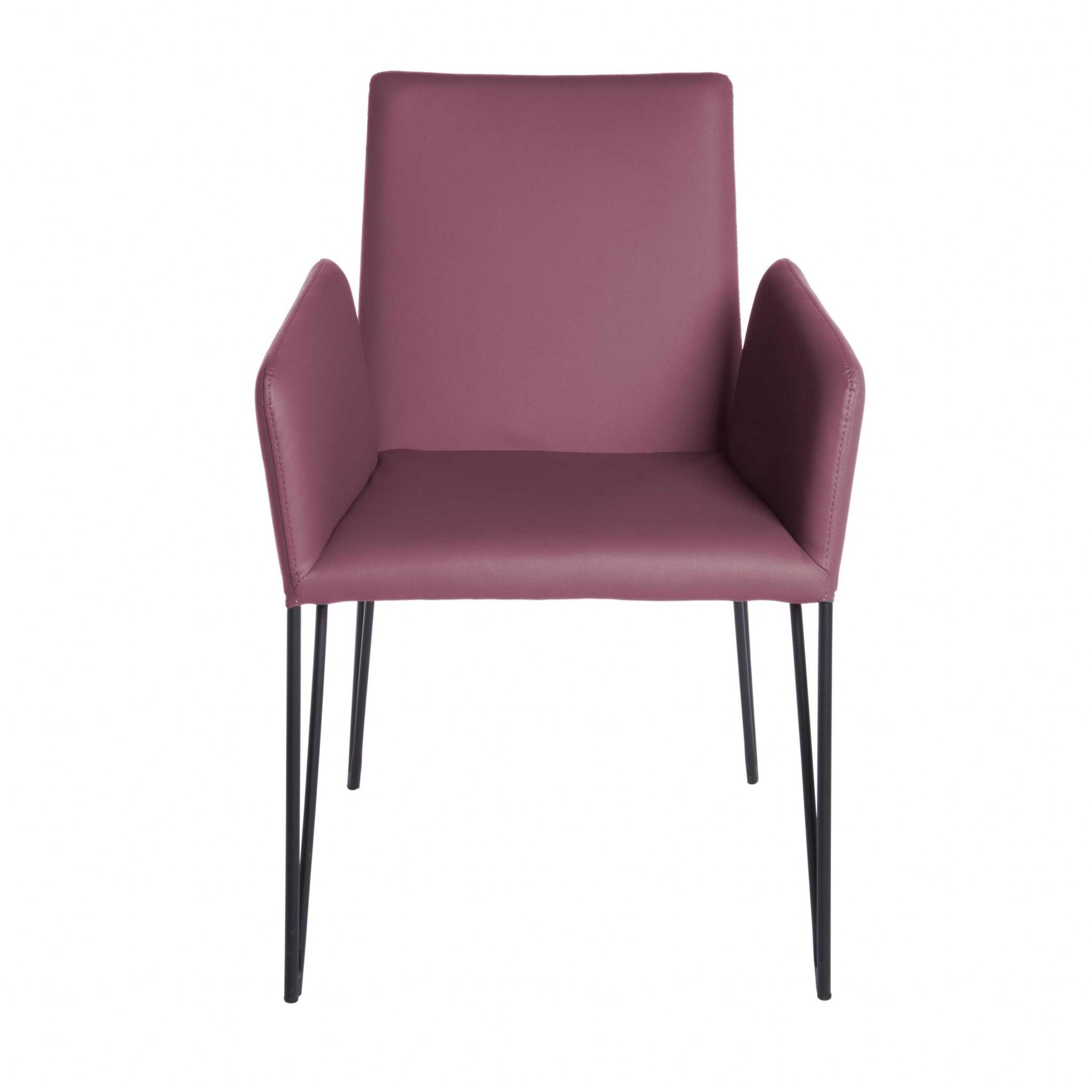 "22.45"" X 23.04"" X 35.63"" Purple Leatherette over Foam Arm Chair"