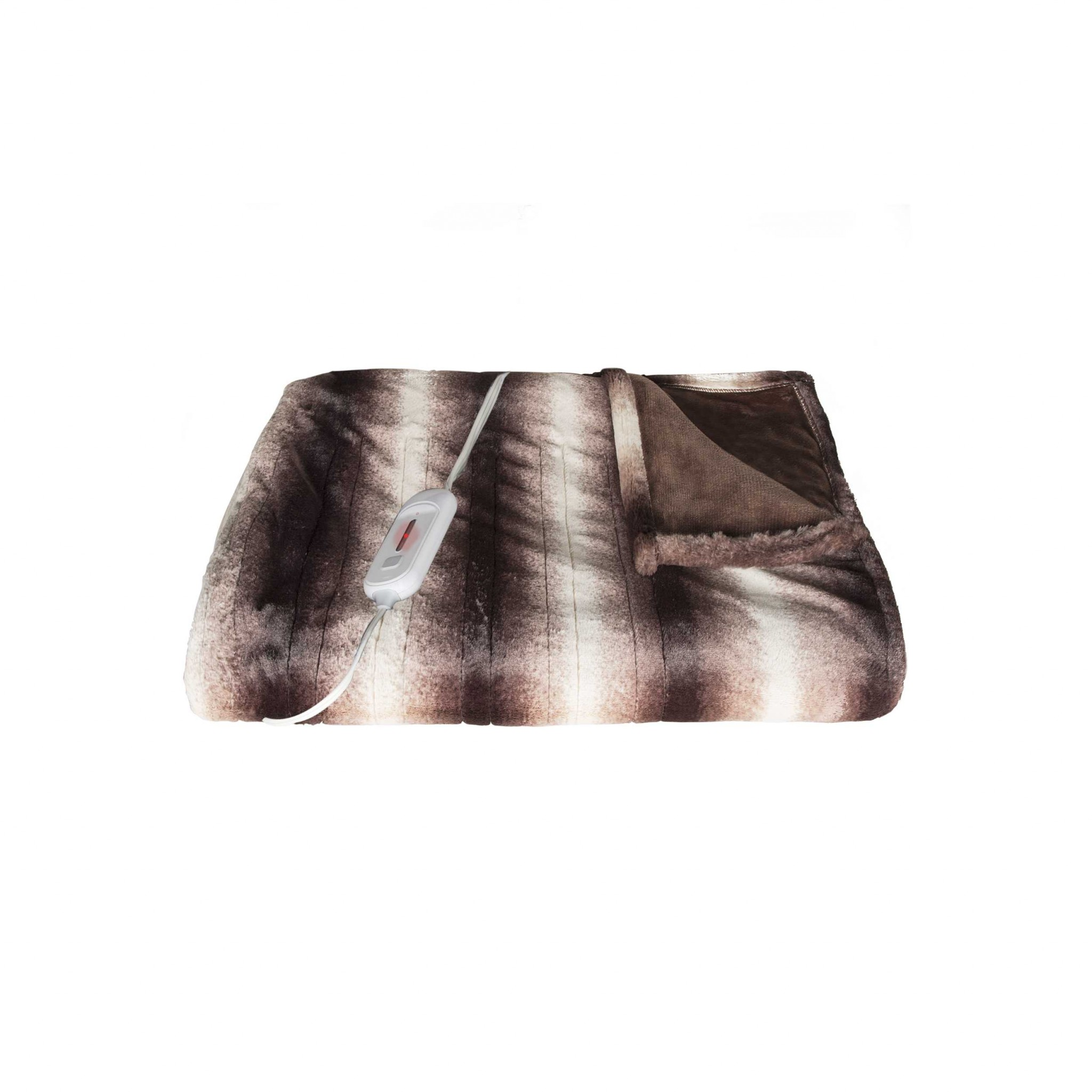 "50"" x 60"" Brown & White Modern/Contemporary Heated - Throw Blankets"