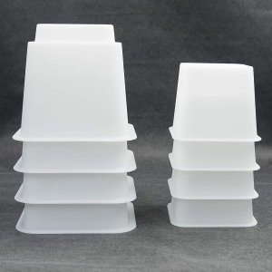 """3"""" 5"""" or 8"""" White Adjustable Bed Risers or Furniture Legs"""