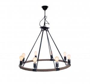 """32"""" x 37"""" x 32"""" 8 Bulbs Rope  Pendant Lamp"""