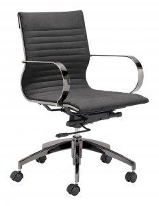 """27"""" x 27"""" x 34.3"""" Black, Velvet, Stainless Steel, Office Chair"""