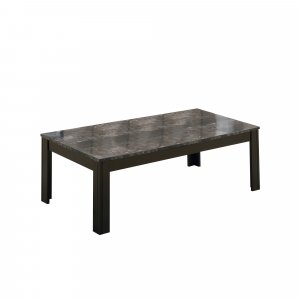 Black Grey Marble-Look Top Table Set - 3Pcs Set