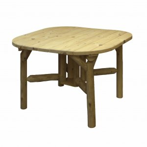 """47"""" X 47"""" X 30""""  Natural Wood Roundabout Table"""