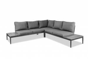 "98"" X 98"" X 26"" Grey Aluminum Sectional"