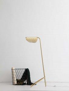 """19"""" X 11"""" X 48"""" Golden Carbon Floor Lamp"""