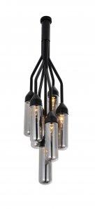 "10.5"" X 10.5"" X 48"" Black Carbon Steel Pendant Lamp"
