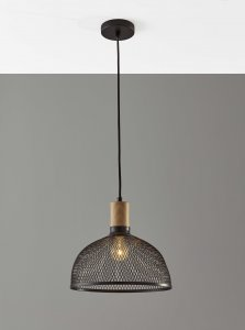 Caged Black Metal Large Ceiling Pendant