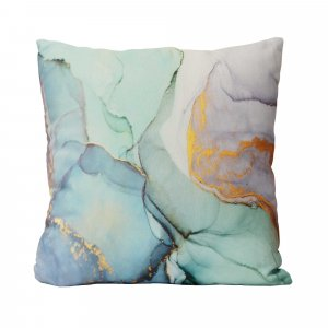 Pastel Watercolor Marble Cotton Square Throw Pillow