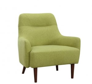 """33"""" X 31"""" X 35"""" Green Polyester Chair"""