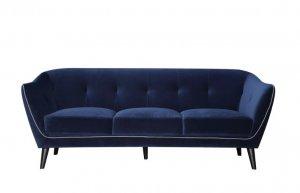 "76"" X 34"" X 31"" Blue Polyester Sofa"