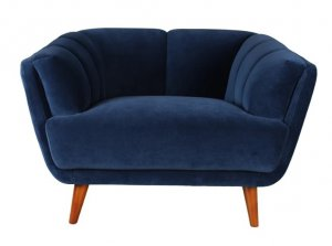 """43"""" X 35"""" X 30"""" Blue Polyester Chair"""