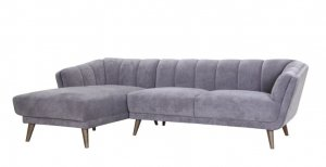 """98"""" X 60"""" X 30"""" Gray Polyester Laf Sectional"""