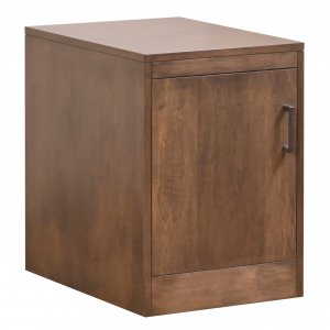 Cappuccino Finish Solid Wood Rolling Door Cabinet