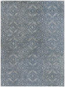 "5"" X8"" X 0.5"" Blue  Wool Area Rug"