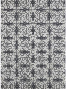 "5"" X8"" X 0.5"" Gray  Wool Area Rug"