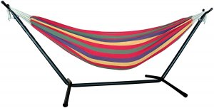 Tropical Stripe Double Classic 2 Person Hammock with Stand