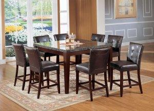 "20"" X 24"" X 40"" Espresso Polyurethane Counter Height Chair (Set-2)"