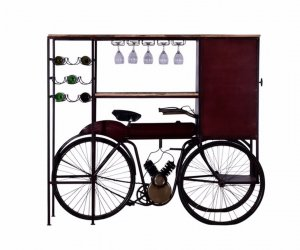 """17"""" X 58.5"""" X 67.5"""" Maroon Tricycle Delivery Bar"""