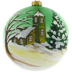 Mouth Blown Polish Glass Artistic Church Christmas Ornament