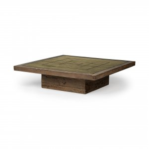 Square Solid Wood Table and Base Coffee Table