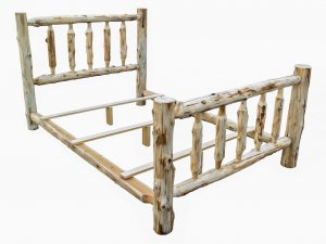 Rustic and Natural Cedar Double Traditional Log Bed