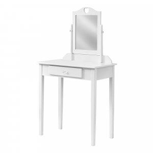 White Vanity Mirror and Storage Drawer