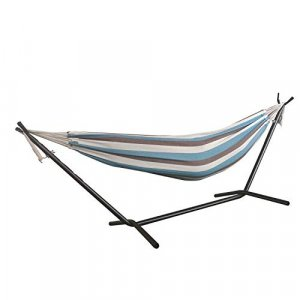 Lagoon Stripe Double Classic 2 Person Hammock with Stand