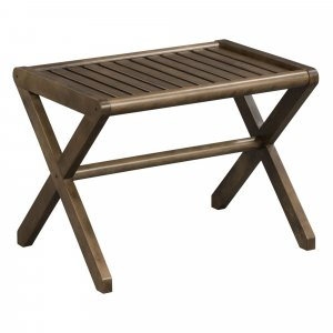 Antique Chestnut Finished Wooden Stool Bench