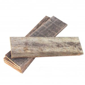 Pack of 6 Rustic Natural Weathered Gray Wood Planks