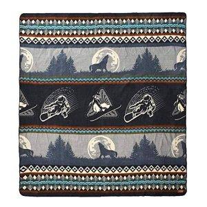 Queen Size Ultra Soft Gray Snowboarder Handmade Woven Blanket