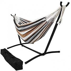 Sahara Stripe Classic 2 Person Hammock with Stand