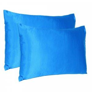 Blue Dreamy Set of 2 Silky Satin Standard Pillowcases