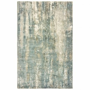 10' x 14' Blue and Gray Abstract Splash Indoor Area Rug