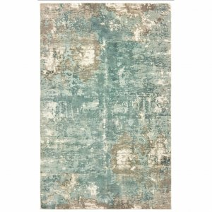 10' x 14' Blue and Gray Abstract Pattern Indoor Area Rug