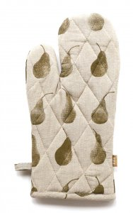 Set of Two Olive Green Tea Towels with Matching Oven Gloves