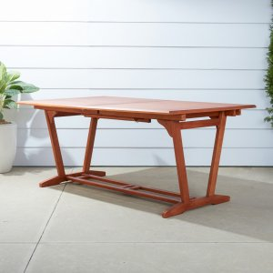 Sienna Brown Extendable Dining Table